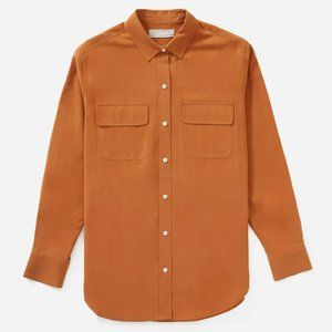 Everlane Washable Silk Relaxed Shirt in Cider